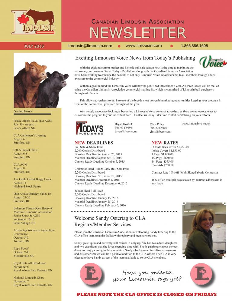 CLA July 2015 Newsletter