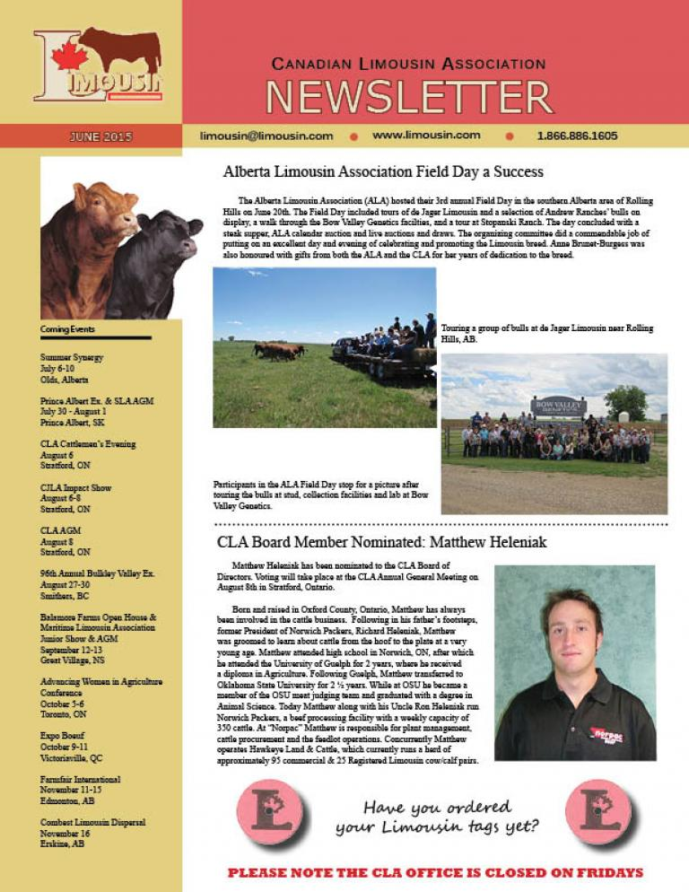 CLA June 2015 Newsletter